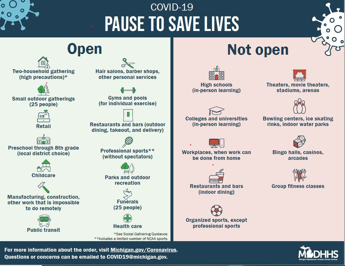 MDHHS Pause to Save Lives graphic