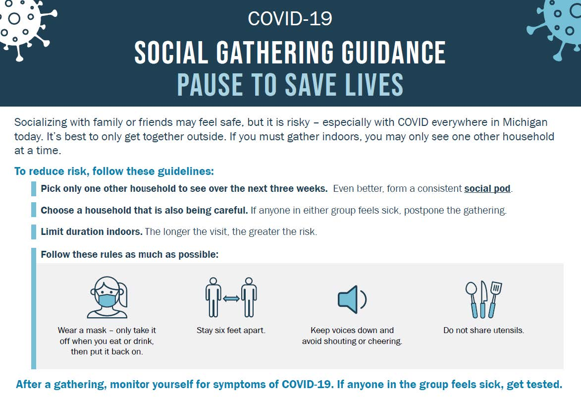11 18 20 MDHHS Social Gathering Guidance